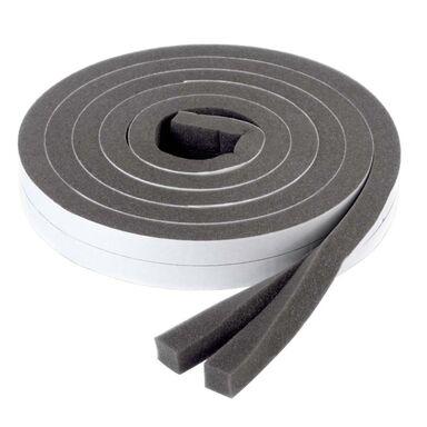 Uszczelka garażowa izolacyjna samoprzylepna 3-17 mm / 6 m szara AXTON