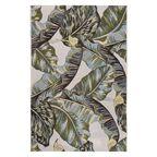 Dywan zewnętrzny w liście Borneo zielono-złoty 80 x 150 cm