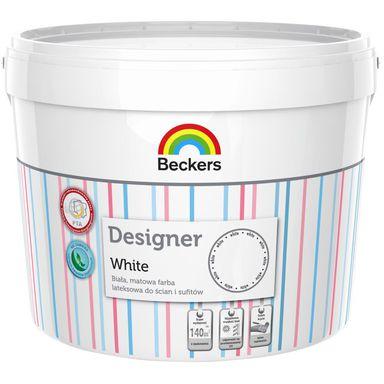 Farba wewnętrzna do ścian i sufitów DESIGNER WHITE 10 l BECKERS