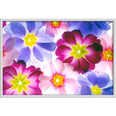 Obraz Niebieskie i różowe kwiaty 90 x 60 cm