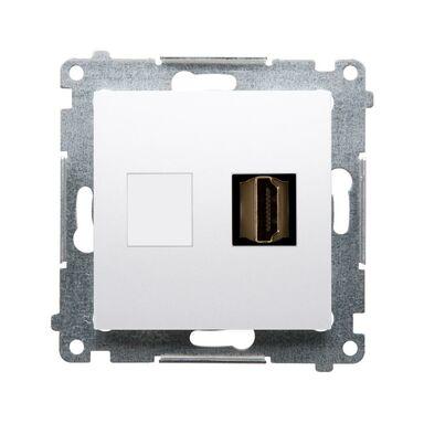 Gniazdo pojedyncze HDMI SIMON 54 PREMIUM  biały  KONTAKT SIMON