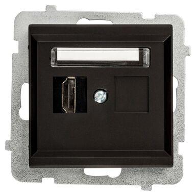 Gniazdo HDMI SONATA  czarny  OSPEL
