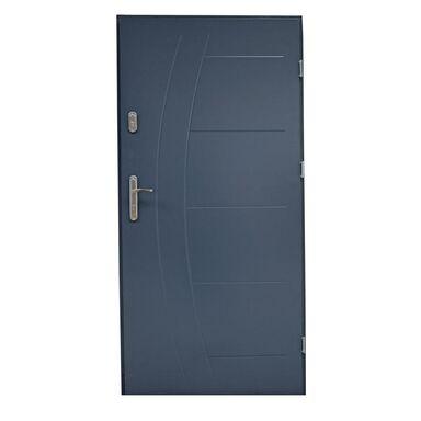 Drzwi zewnętrzne stalowe LUMIS Antracyt 80 Prawe