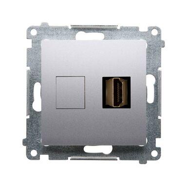Gniazdo HDMI POJEDYNCZE SIMON 54 PREMIUM Srebrny KONTAKT SIMON