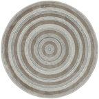 Dywan okrągły NANO perłowo-szary śr. 100 cm