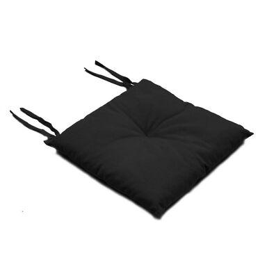 Poduszka na krzesło Silla czarna 40 x 40 x 2 cm