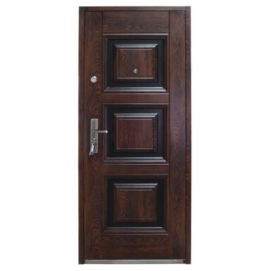 Drzwi wejściowe QUADRAT Mahoń 90 Prawe
