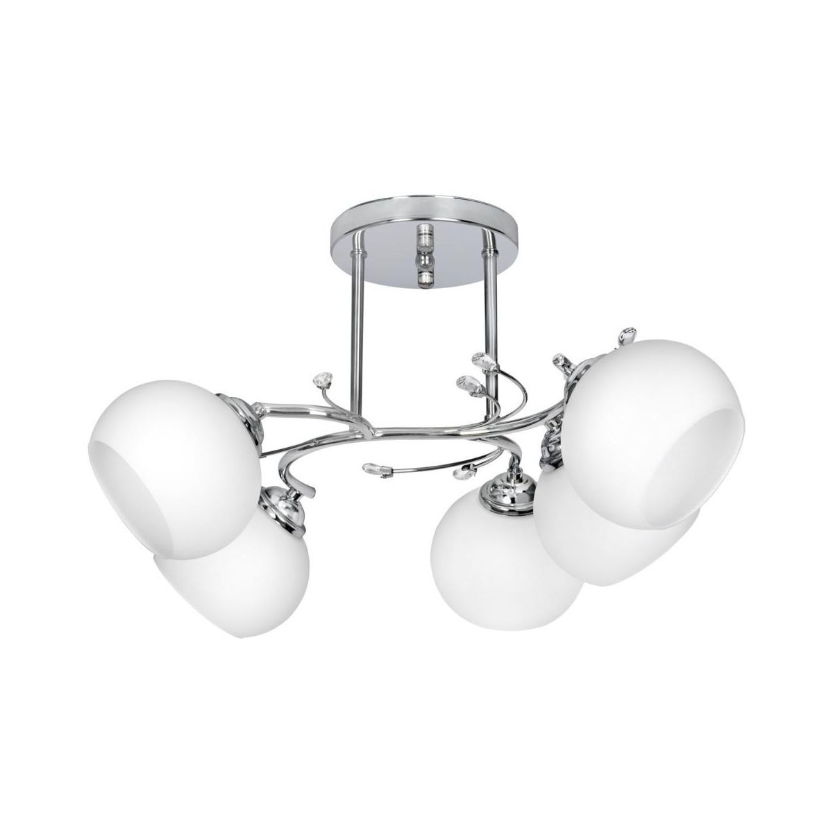 Zyrandol Irma Srebrny E27 Activejet Zyrandole Lampy Wiszace I Sufitowe W Atrakcyjnej Cenie W Sklepach Leroy Merlin