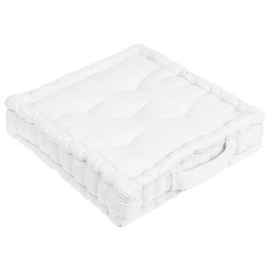 Siedzisko na podłogę ELEMA białe 40 x 40 cm INSPIRE