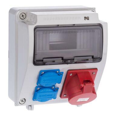 Rozdzielnica elektryczna bez wyposażenia RS 1 / 9 6232 - 00 / 2 X 2P + Z 3P + N + Z 32A ELEKTRO-PLAST