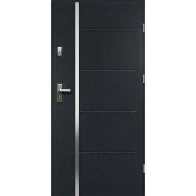 Drzwi zewnętrzne stalowe antywłamaniowe RC2 Iris antracyt 90 prawe Radex