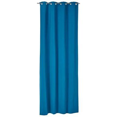 Zasłona Elema niebieska 140 x 280 cm na przelotkach Inspire