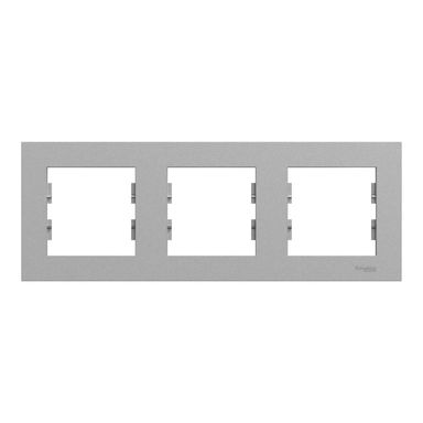 Ramka potrójna pozioma Miluz Ed aluminium SCHNEIDER ELECTRIC