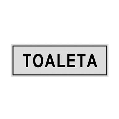 Znak informacyjny TOALETA 8 x 22 cm