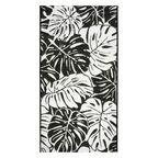 Dywan zewnętrzny Jawa biało-czarny 60 x 90 cm