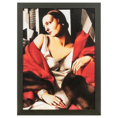 Obraz PORTRET PANI BOUCARD TAMARA ŁEMPICKA 56 x 76 cm NIELSEN