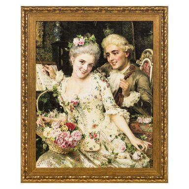 Obraz FEDERICO ANDREOTTI Z BUKIETEM KWIATÓW 48 x 58 cm  NIELSEN
