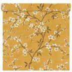 Tapeta w kwiaty FLOWERS żółta winylowa na flizelinie