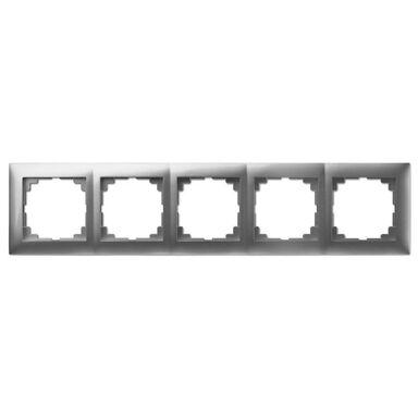 Ramka pięciokrotna CARLA  srebrny  ELEKTRO - PLAST