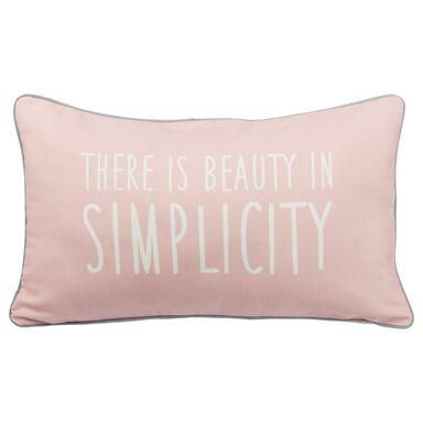 Poduszka SIMPLICITY różowa 50 x 30 cm INSPIRE