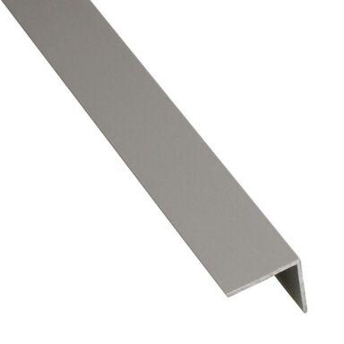 Kątownik PVC 2.6 m x 16 x 16 mm matowy szary
