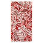 Dywan zewnętrzny Haiti czerwony 60 x 90 cm