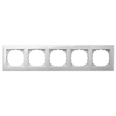 Ramka pięciokrotna CARLA Biały ELEKTRO-PLAST