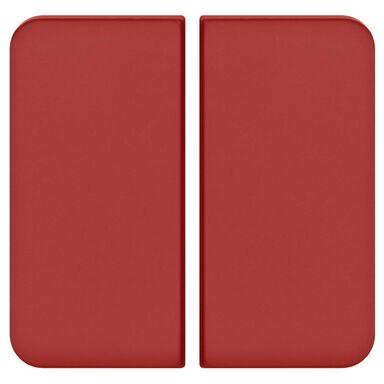 Plakietka do włącznika podwójnego schodowego  czerwony  LEXMAN