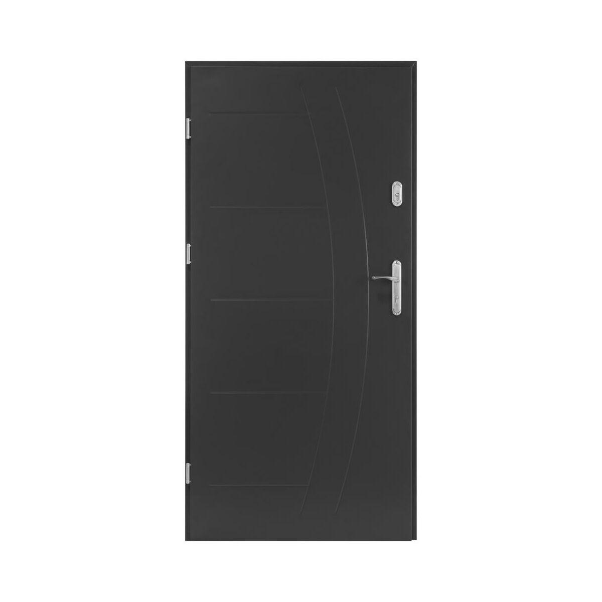Drzwi Wejsciowe Lumis Antracyt 80 Lewe Drzwi Wejsciowe Do Domu Mieszkania W Atrakcyjnej Cenie W Sklepach Leroy Merlin