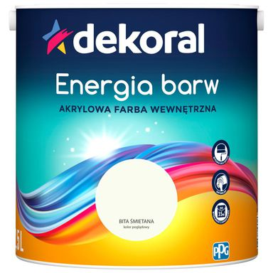 Farba wewnętrzna ENERGIA BARW 2.5 l Bita Smietana DEKORAL
