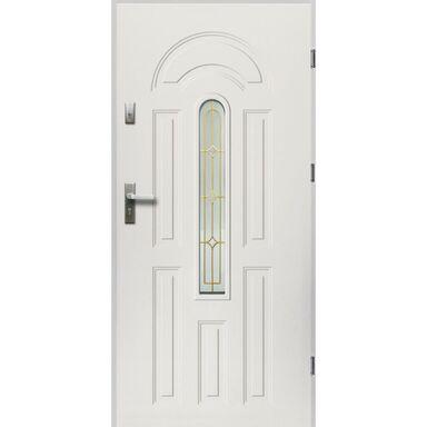 Drzwi zewnętrzne stalowe  WENUS Białe 90 Prawe
