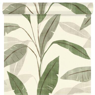Tapeta w liście Palm zielona winylowa na flizelinie