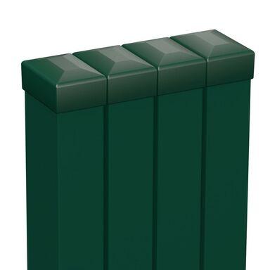 Zestaw słupków ogrodzeniowych 6 x 4 x 200 cm Zielony POLARGOS