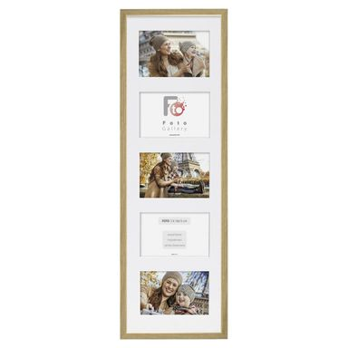 Multiramka na 5 zdjęć 22 x 70 cm dąb drewniana