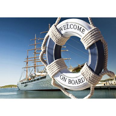 Kanwa Artcanvas Welcome on board 100 x 70 cm
