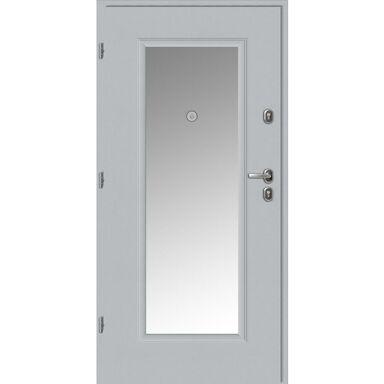 Drzwi wejściowe BRAGA Z LUSTREM Białe 90 Lewe LOXA