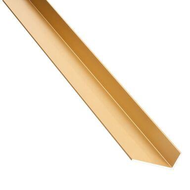 Kątownik aluminiowy 1 m x 23.5 x 19.5 mm połysk mosiądz STANDERS