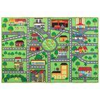 Dywan dziecięcy ULICZKI zielony 100 x 150 cm INSPIRE