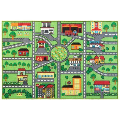 Dywan ULICZKI zielony 100 x 150 cm wys. runa 3 mm INSPIRE