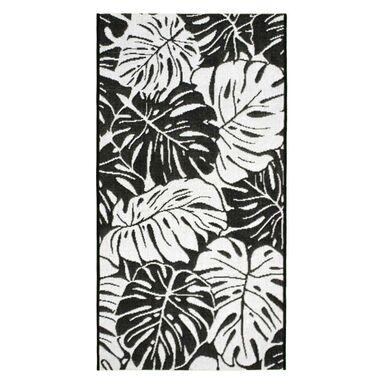 Dywan zewnętrzny Jawa biało-czarny 120 x 170 cm