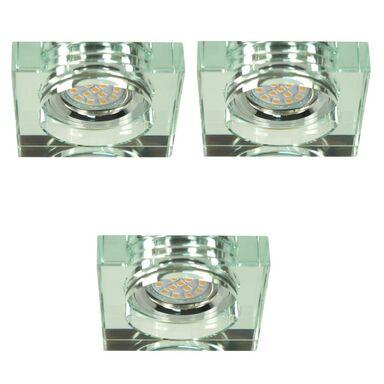 Zestaw opraw stropowych 3 szt. SS17 transparentne szkło LED CANDELLUX