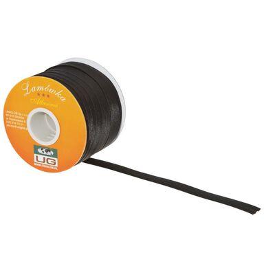 Lamówka na mb czarna atłasowa 15 mm