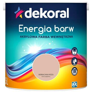 Farba wewnętrzna ENERGIA BARW 2.5 l Herbaciana Róża DEKORAL