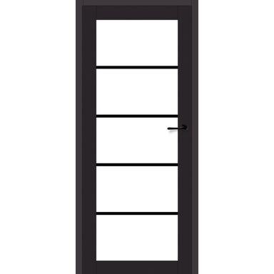 Skrzydło szklane INDUSTRIAL 80 Lewe Czarny mat ARTENS