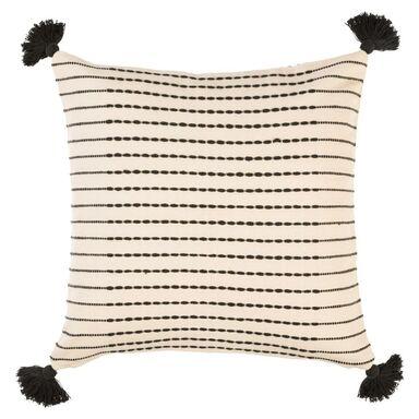 Poduszka ABENI biało-czarna 50 x 50 cm INSPIRE