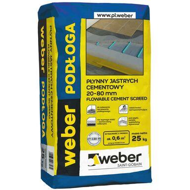 Płynny jastrych cementowy 20 - 80 mm 25 kg WEBER