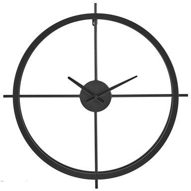 Zegar ścienny metalowy LZE-9 śr. 60 cm czarny