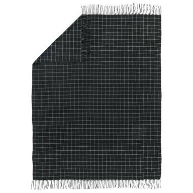 Pled Dark czarny 130 x 180 cm Inspire