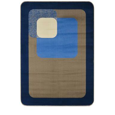 Dywan ROUND niebieski 120 x 160 cm