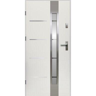 Drzwi zewnętrzne stalowe  ADRIANA Białe 80 Lewe OK DOORS TRENDLINE
